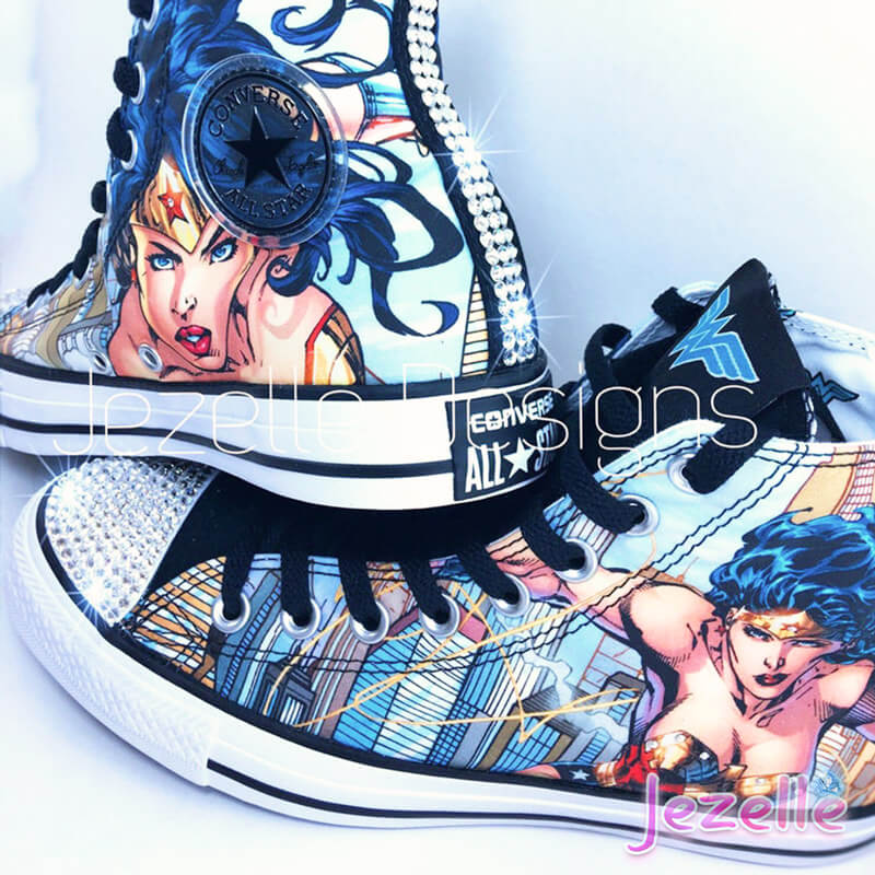 Wonder Woman Converse with Swarovski Crystals