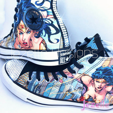 Image of Wonder Woman Converse with Swarovski Crystals