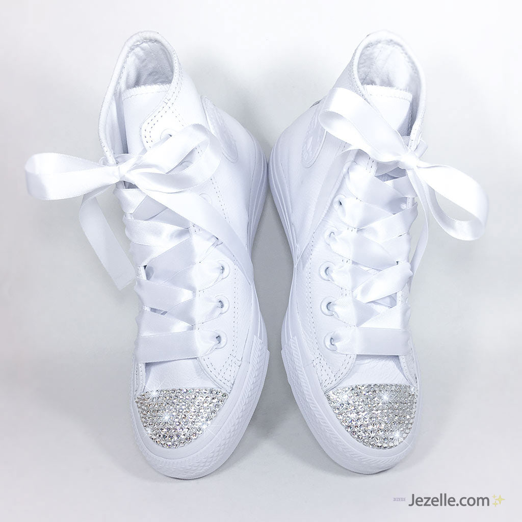 b9245fcc5023 Wedding Converse with Swarovski® Crystals - Jezelle.com