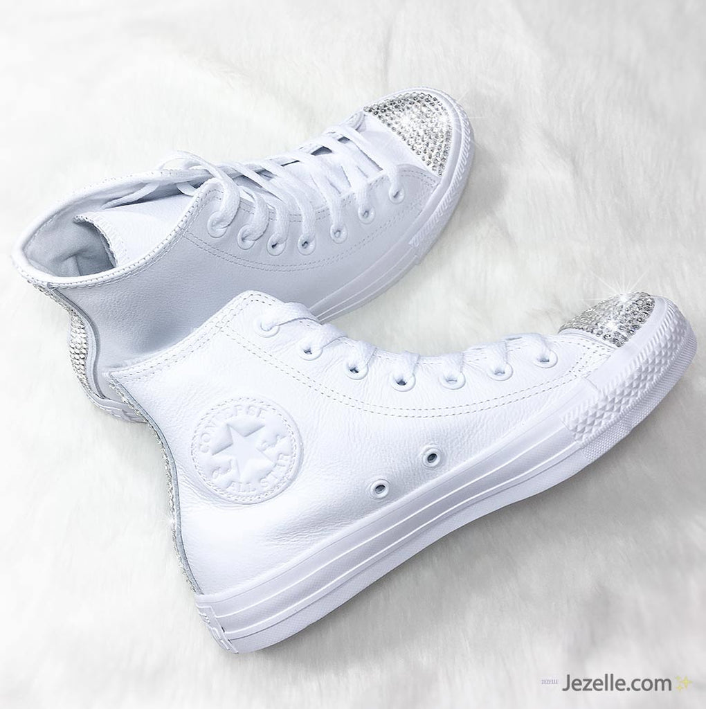 White Converse Bridal Sneakers