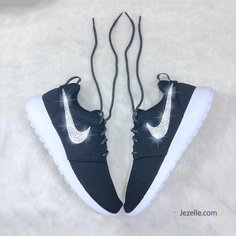 White Roshe Runs Black Swoosh