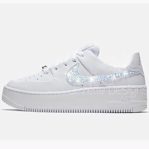 Image of bling white air forces 1