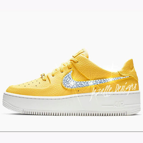 Bling customized crystal nike air force one