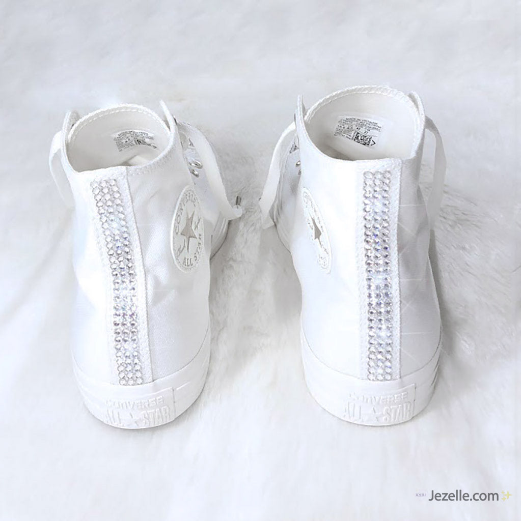 Bling Converse Ivory High Tops with