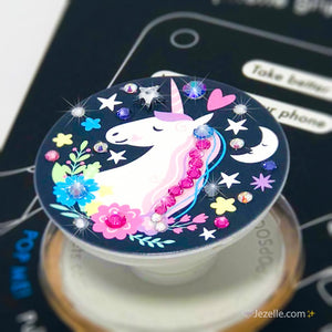 Unicorn Popsocket with Swarovski Crystals