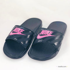 ✨ULTIMATE Blinged Out Swarovski Benassi JDI Nike Slides 😍