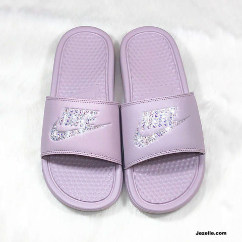 Image of Bedazzled Nike Slides