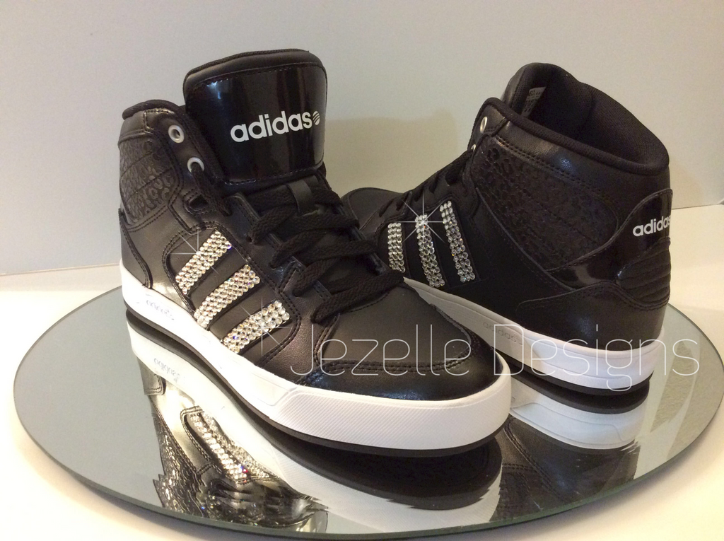 Blinged Out Adidas Neo Raleigh Basketball Kicks | Jezelle Designs