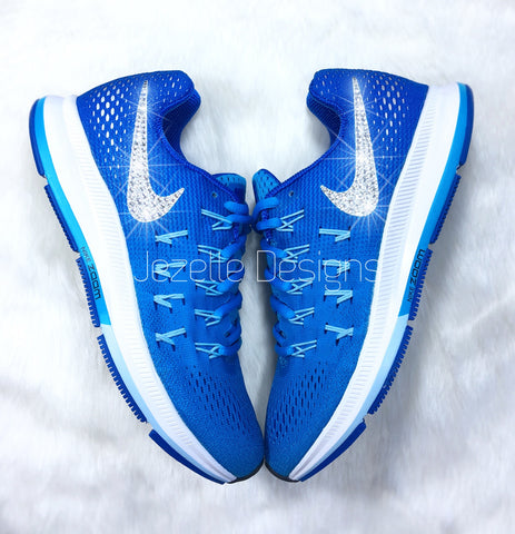 SALE! SWAROVSKI NIKE Air Zoom Pegasus 33 in BLUE GLOW