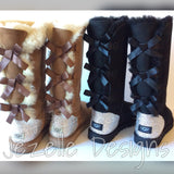 Brown and Black Swarovski Crystal Uggs