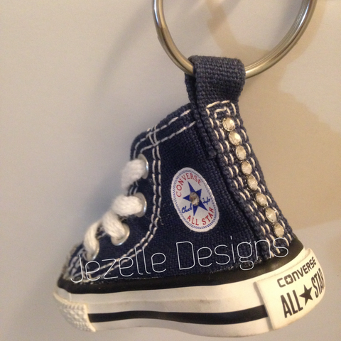 Navy Blue Bling Key Chain