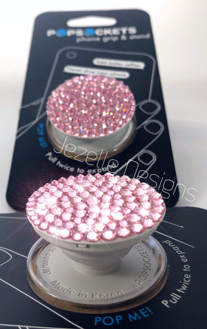 Clear Diamond Custom Bling Popsocket with Swarovski Crystals
