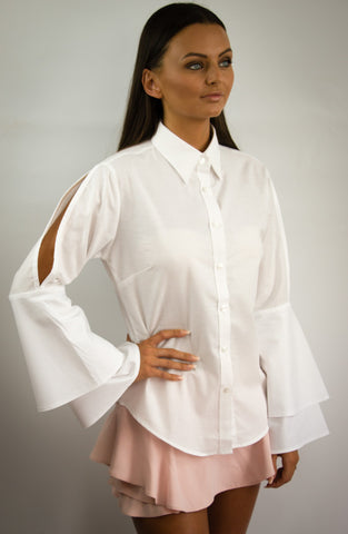 S.Entwistle Bella Ruffle Shirt
