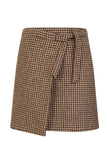 S.Entwistle Check Tweed Wrap Skirt