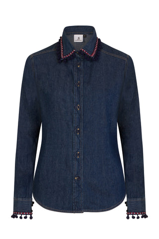 S.Entwistle Denim Pom Pom Shirt