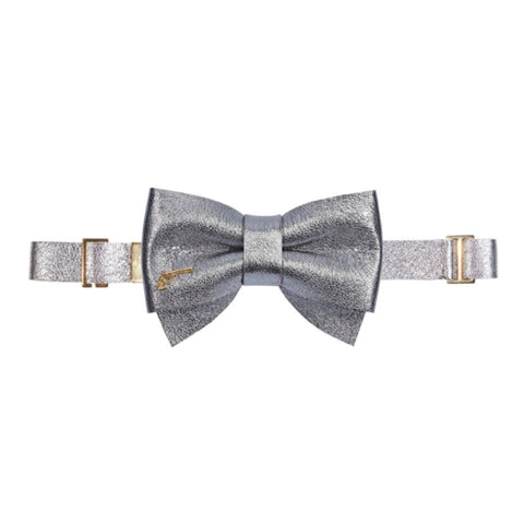 Silver Sparkles Bow Tie by Jacky Black