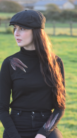 S.Entwistle Feather Roll Neck Top