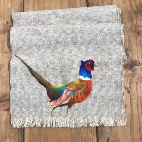 S.Entwistle British Tweed Summer Pheasant Scarf