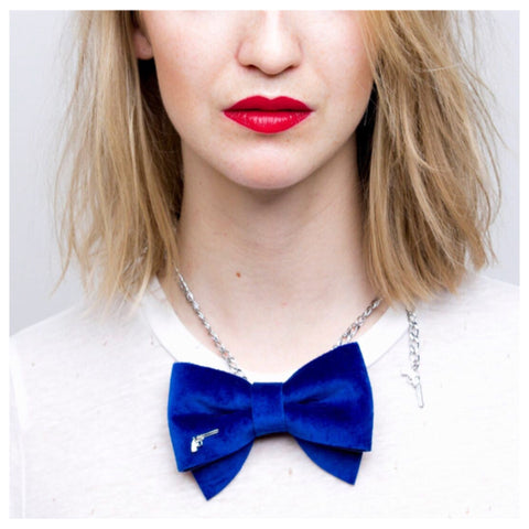 Blue Bow Tie Chain by Jacky Black