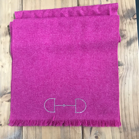 S.Entwistle British Tweed Scarf with Diamante