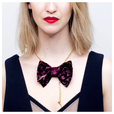Boudoir Bow Tie Chain by Jacky Black