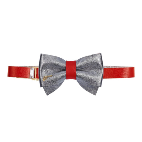Red Sparkles Bow Tie by Jacky Black