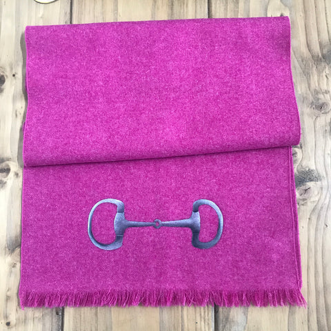 S.Entwistle British Tweed Scarf with Snaffle