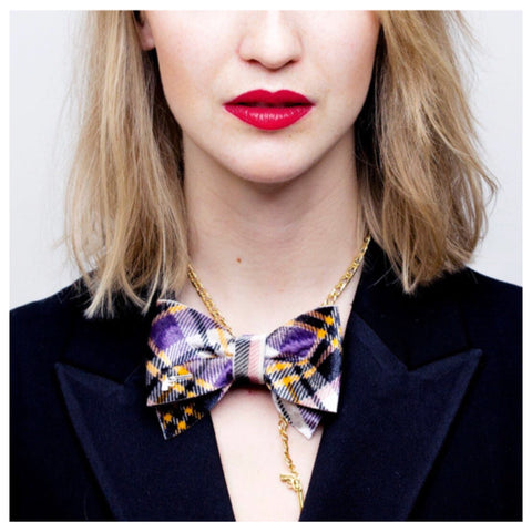 Check Bow Tie Chain by Jacky Black