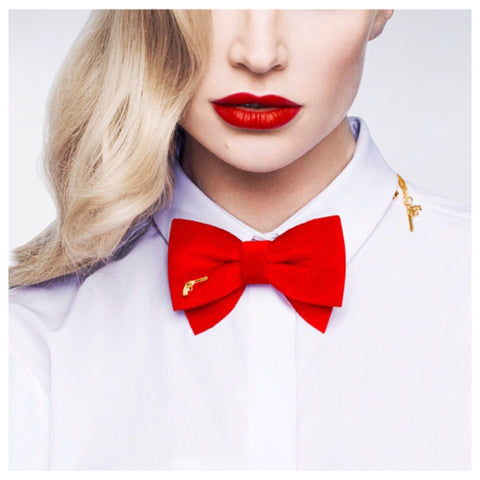 Red Bow Tie Chain by Jacky Black