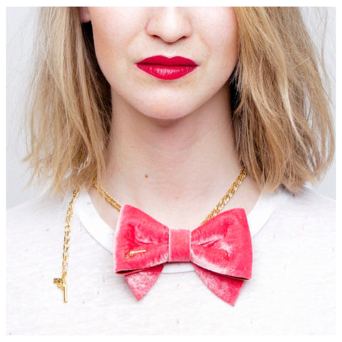 Bon Bon Bow Tie Chain by Jacky Black