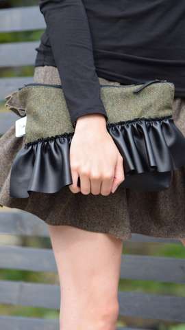 Tweed Zip Bag