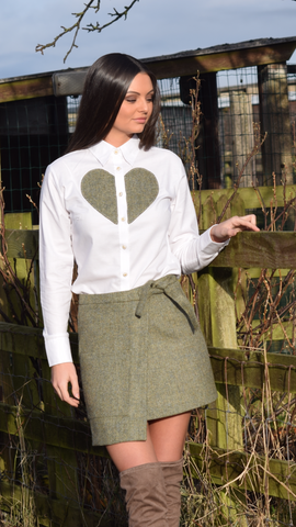 S.Entwistle Tweed Heart Shirt