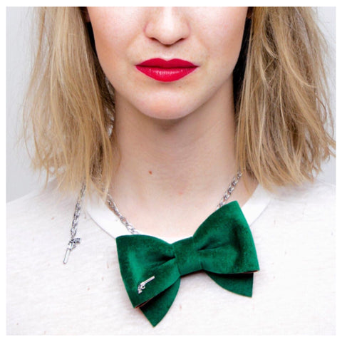 Green Bow Tie Chain by Jacky Black