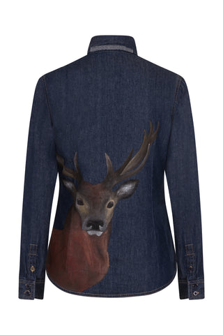 S.Entwistle Hand Painted Stag Denim Shirt