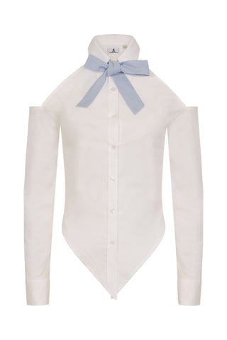S.Entwistle Knotted Shirt (blue)