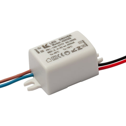 1W Constant Current LED Driver 400mA 2 - 4v light