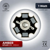 1W Amber Orange LED (595-610nm) - futureeden.co.uk