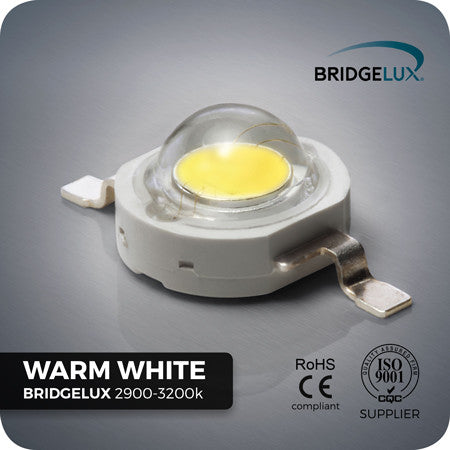 3W Warm White LED (Bridgelux 2900-3200k)