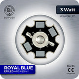3W Royal Blue LED (440nm EPILED)