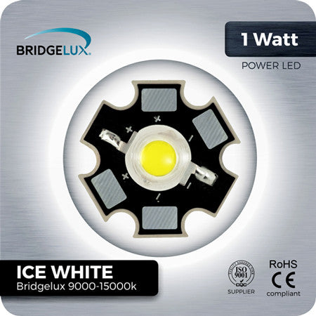 1W Bridgelux Cool White LED Components on aluminium PCB star 9000-15000k