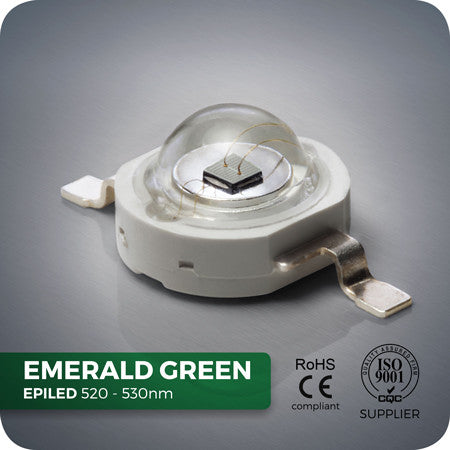 3W Emerald Green High Power LED Component 520-530nm