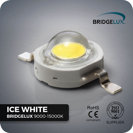 1W Ice White LED (Bridgelux 9000-15000k)