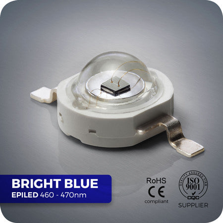 1W Super Bright Blue LED 460nm - 470nm High Power reef LED components