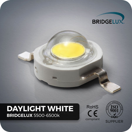 1W Daylight White LED component - Bridgelux chips - 5500-6000k