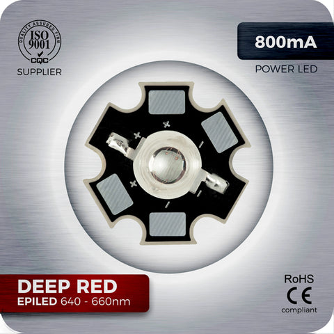 3W Deep Red High Power LED component 660nm for homemade grow lights