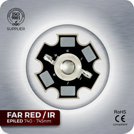 Far Infra Red LED components 740nm - 745nm for grow lights