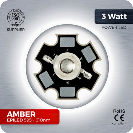 Amber Power LED (EPILED 595-610nm) - 800mA - futureeden.co.uk