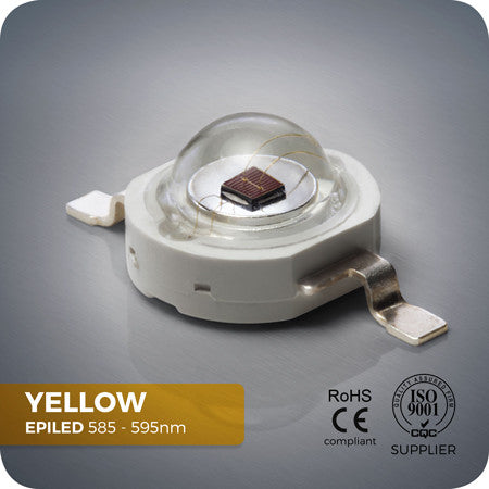 Yellow Power LED Component 585 - 595nm for home made grow lights