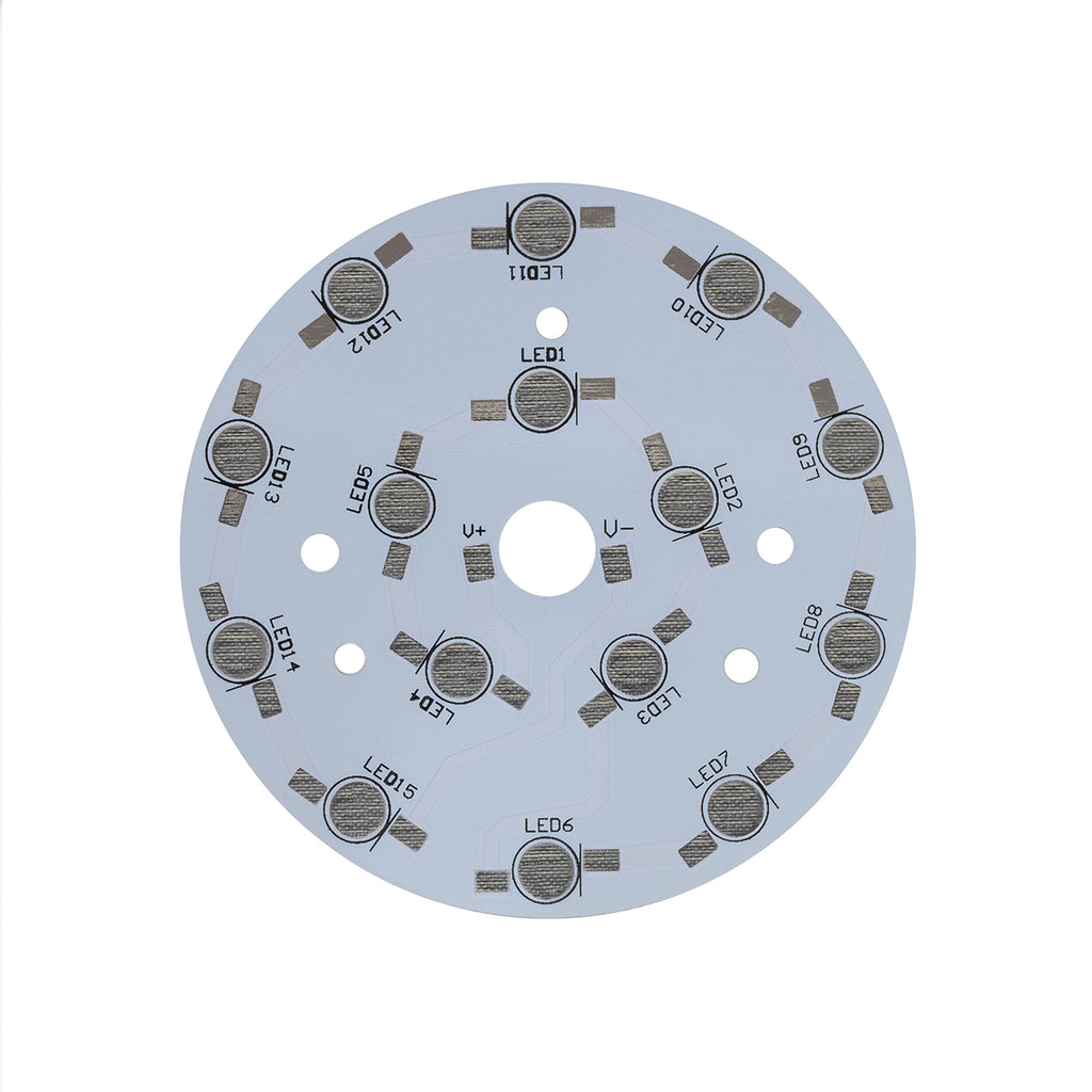 90mm Circular LED PCB (15 LEDs in series) - futureeden.co.uk