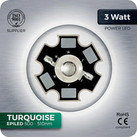 3W Turquoise LED (500-510nm EPILED) - futureeden.co.uk